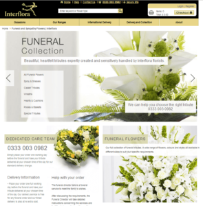 interflora funeral flowers